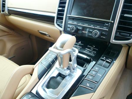 Porsche Cayenne gearshift button depressant