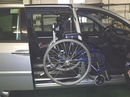 Designing & fitting a hoist to store wheelchair behind the drivers' seat