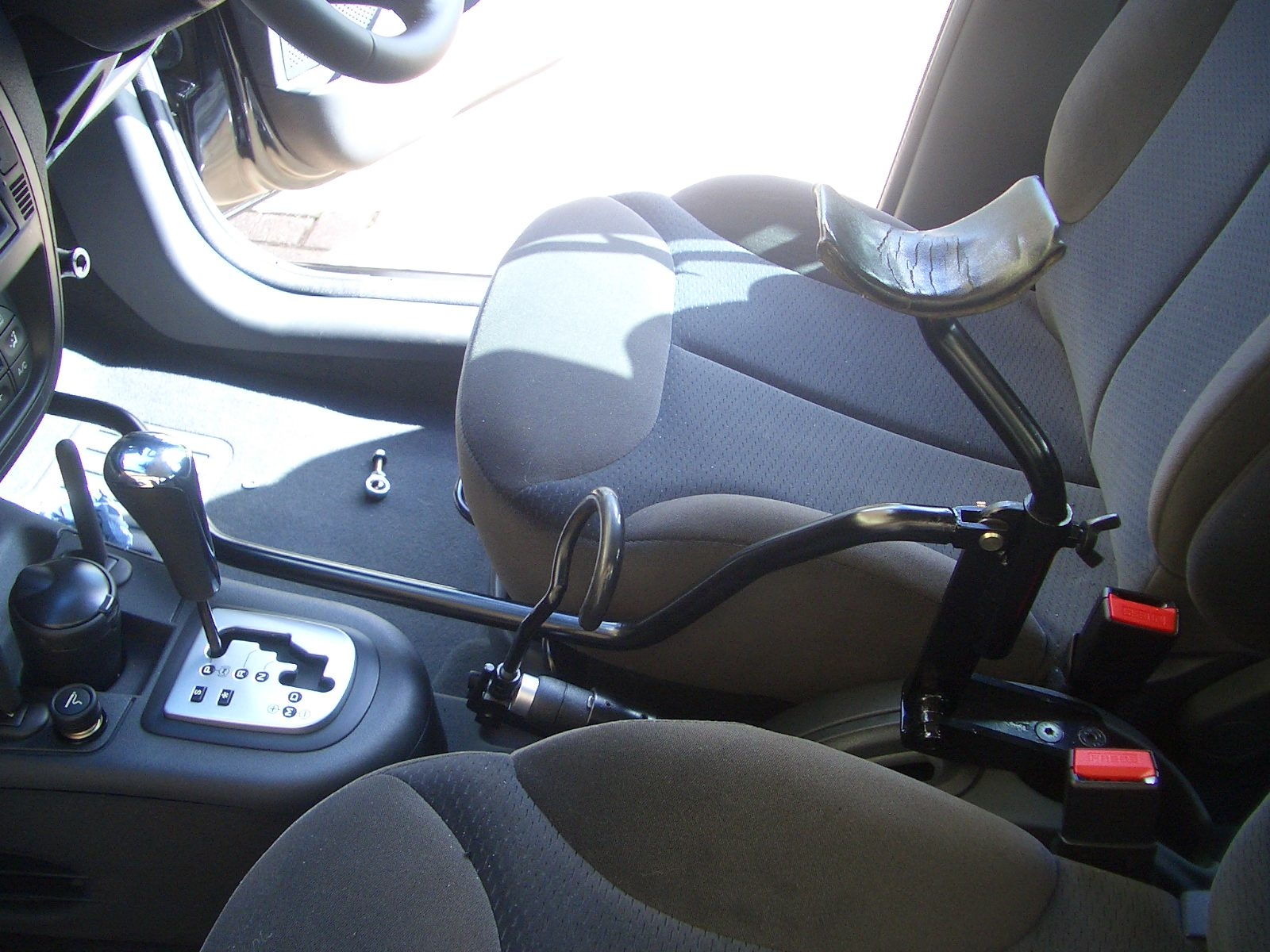 Adapted Citroen C3 for driver with no hands